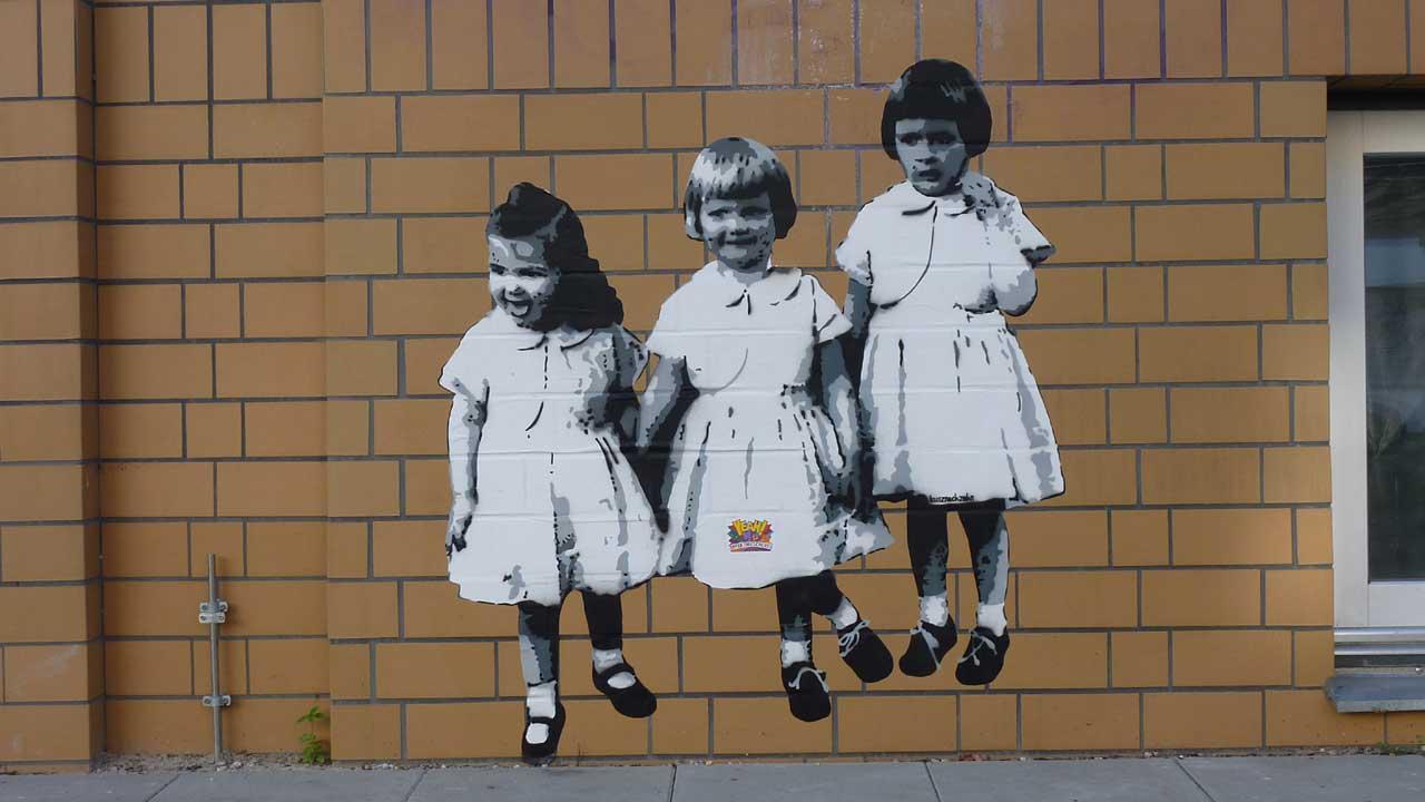 Friedrichshain - Streetart an der Hauswand